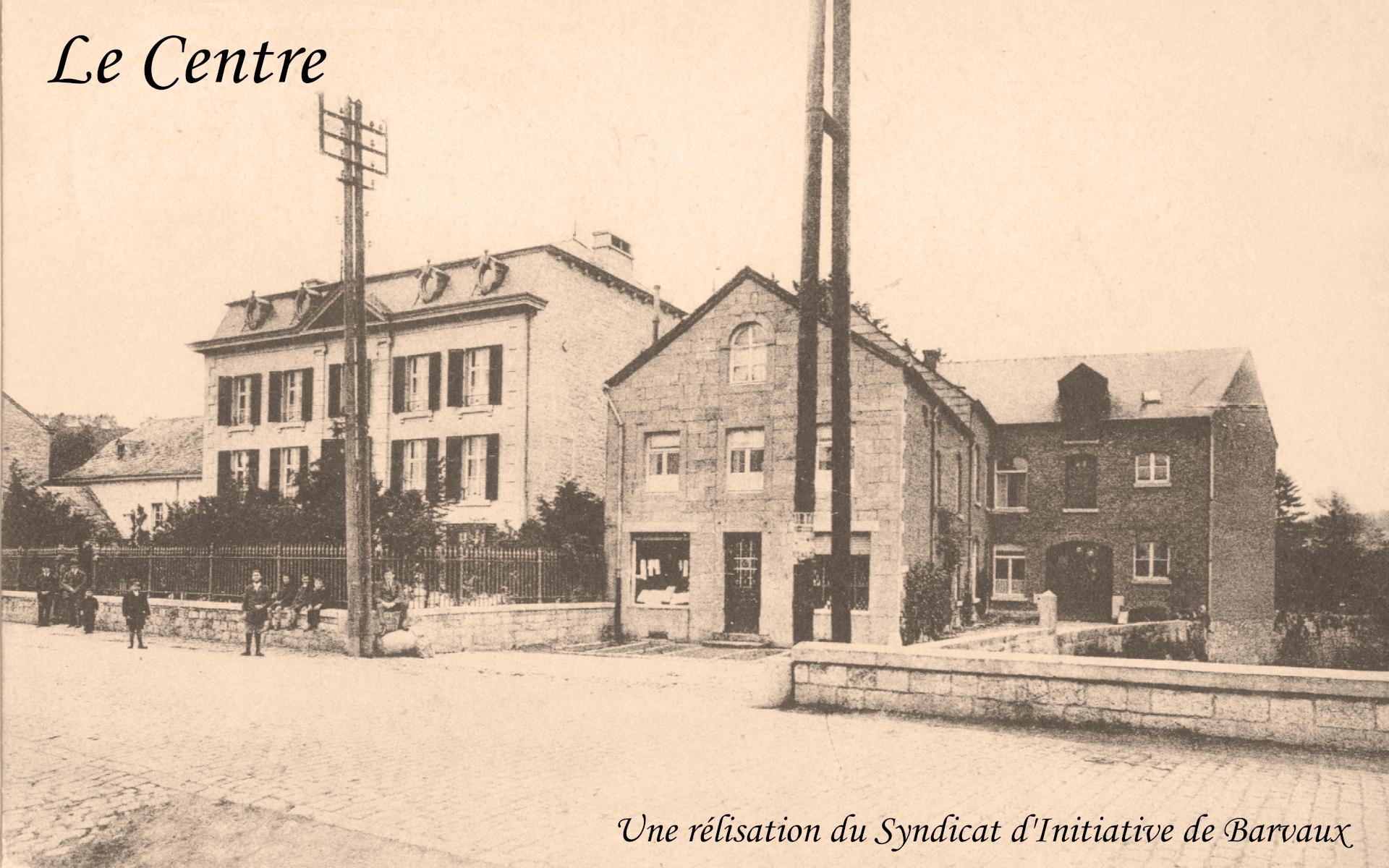 une photo ancienne du centre de Barvaux sur Ourthe