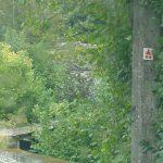 balise du circuit vallée du Néblon au départ de houmart