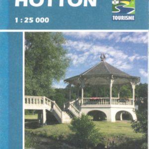 carte des promenades pédestres balisées de Hotton
