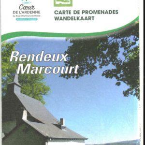 carte des promenades pédestres balisées de Rendeux-Marcourt