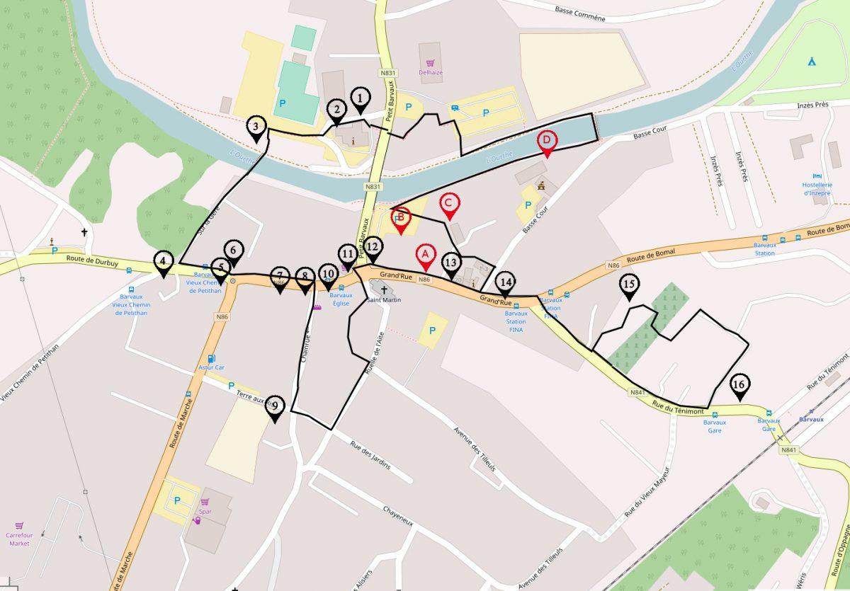 Promenade découverte historique de Barvaux sur Ourthe