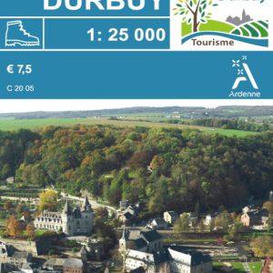 carte de promenades balisées de Durbuy